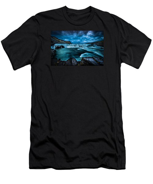Men's T-Shirt (Slim Fit) featuring the photograph Waterfall Drama by Chris McKenna
