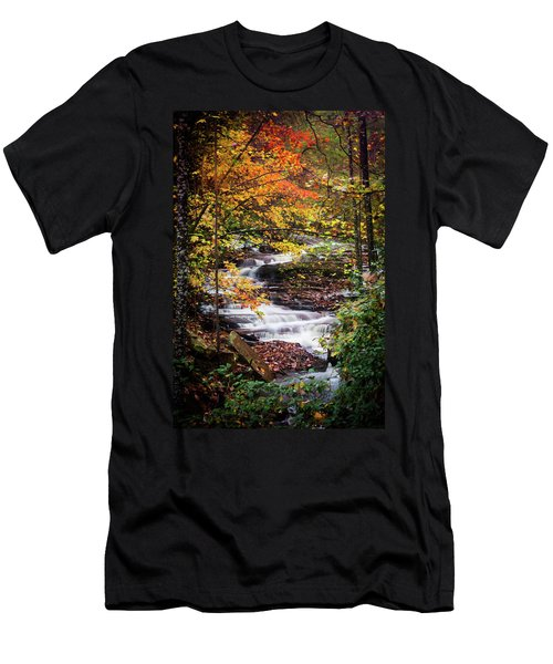 Men's T-Shirt (Slim Fit) featuring the photograph Waterfall Kaleidoscope  by Parker Cunningham