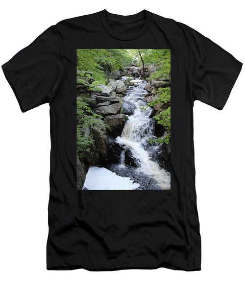 Waterfall Pillsbury State Park Men's T-Shirt (Athletic Fit)