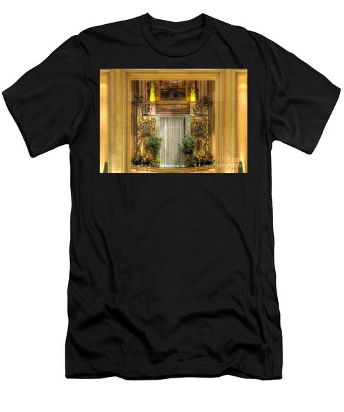 Waterfall View And Hues Men's T-Shirt (Athletic Fit)