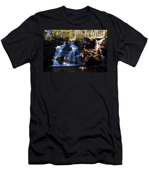 Waterfall, Whitewall Brook Men's T-Shirt (Athletic Fit)