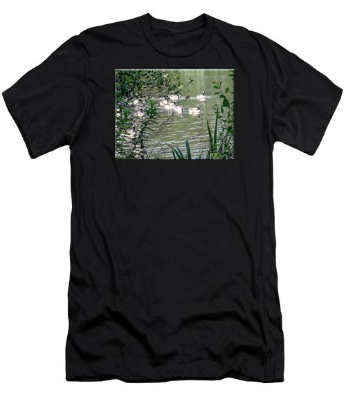 Waterfowl At The Park Men's T-Shirt (Athletic Fit)