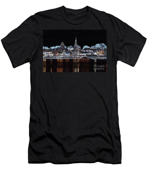 Waterfront Etching Men's T-Shirt (Athletic Fit)