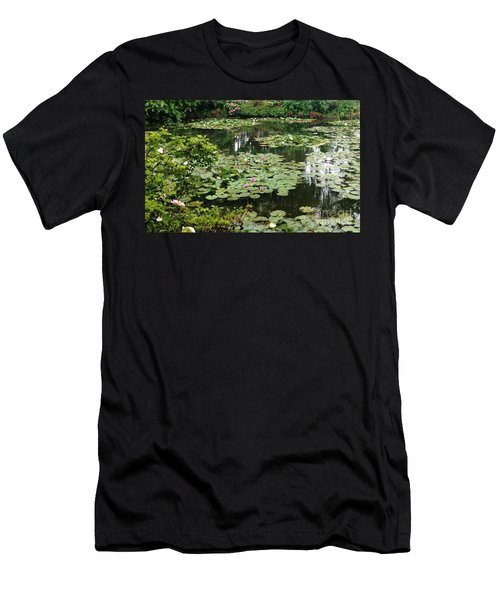 Men's T-Shirt (Slim Fit) featuring the photograph Waterlilies At Monet's Gardens Giverny by Therese Alcorn