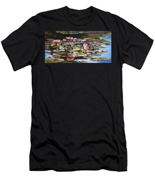 Waterlilies Tower Grove Park Men's T-Shirt (Slim Fit) by Irek Szelag
