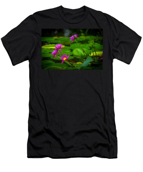 Waterlily Blossoms Men's T-Shirt (Athletic Fit)