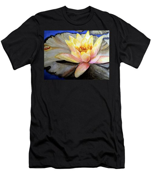 Waterlily  Men's T-Shirt (Slim Fit) by Carol Grimes