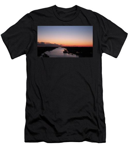 Waterway Sunset #1 Men's T-Shirt (Athletic Fit)