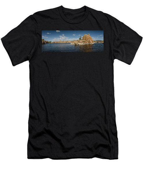 Watson Lake Panorama Men's T-Shirt (Athletic Fit)
