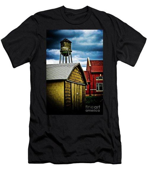 Waurika Old Buildings Men's T-Shirt (Athletic Fit)