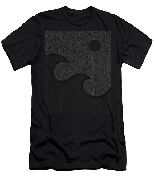 Wave And The Moon Men's T-Shirt (Athletic Fit)