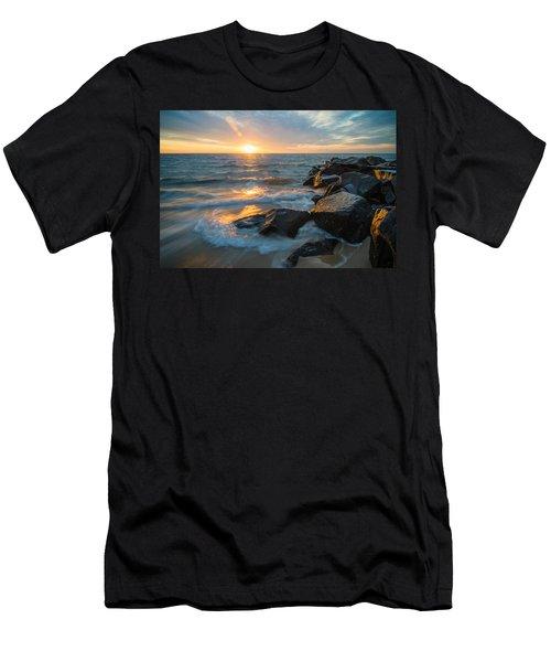 Wave Break Men's T-Shirt (Athletic Fit)