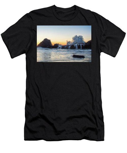 Wave Burst Men's T-Shirt (Athletic Fit)