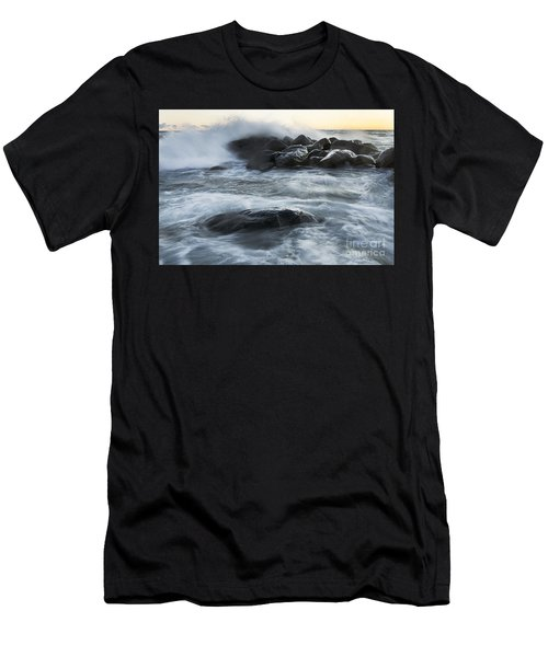 Wave Crashes Rocks 7835 Men's T-Shirt (Athletic Fit)