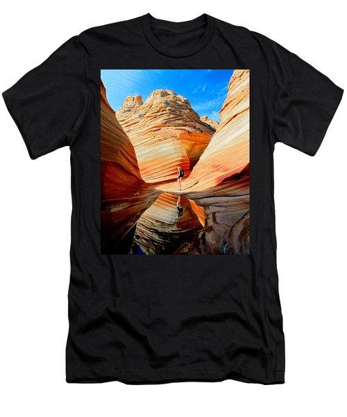 Wave Reflection Men's T-Shirt (Athletic Fit)