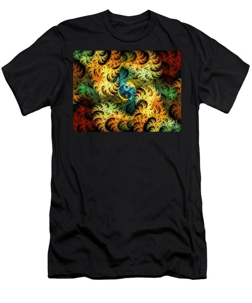 Men's T-Shirt (Athletic Fit) featuring the digital art Waves Of Change by Michal Dunaj