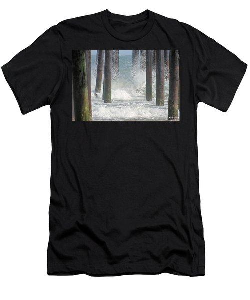 Waves Under The Pier Men's T-Shirt (Athletic Fit)