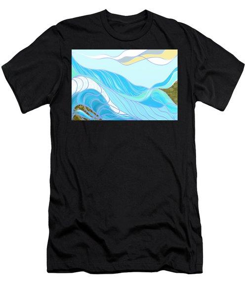Waves Men's T-Shirt (Athletic Fit)