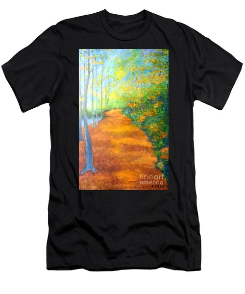 Way In The Forest Men's T-Shirt (Athletic Fit)