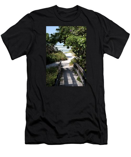 Way To The Beach Men's T-Shirt (Slim Fit) by Christiane Schulze Art And Photography