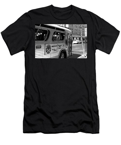 Wbru-fm Bus Sign, 1975 Men's T-Shirt (Athletic Fit)