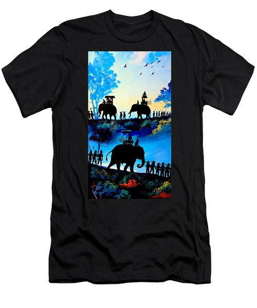 We March At Sunrise  Men's T-Shirt (Athletic Fit)