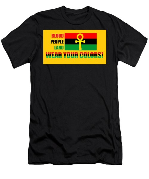 Wear Red Black And Green Men's T-Shirt (Athletic Fit)