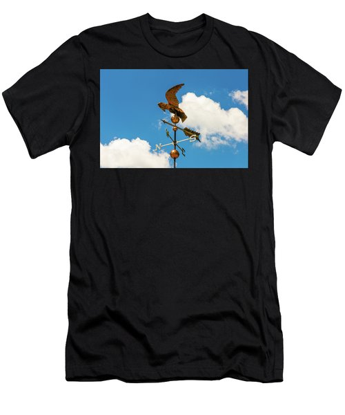 Weather Vane On Blue Sky Men's T-Shirt (Athletic Fit)