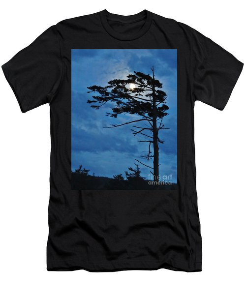 Weathered Moon Tree Men's T-Shirt (Athletic Fit)