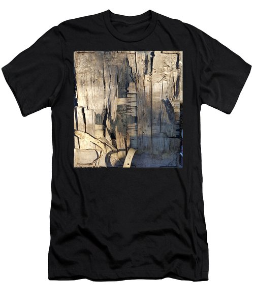 Weathered Plywood Composition Men's T-Shirt (Athletic Fit)