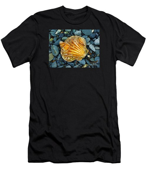 Weathered Scallop Shell Men's T-Shirt (Slim Fit) by Judi Bagwell