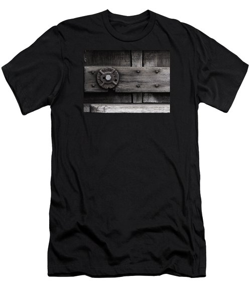 Weathered Wood And Metal Four Men's T-Shirt (Athletic Fit)