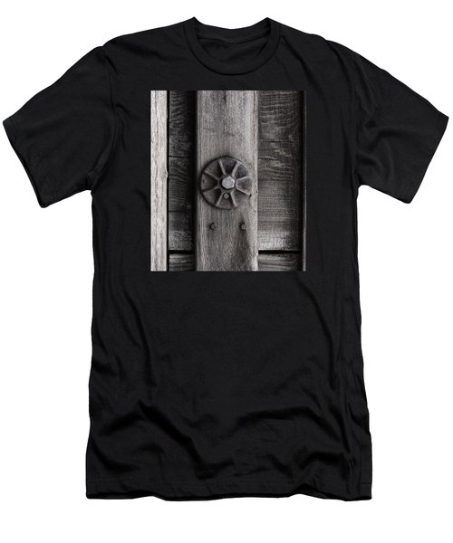 Weathered Wood And Metal Three Men's T-Shirt (Athletic Fit)