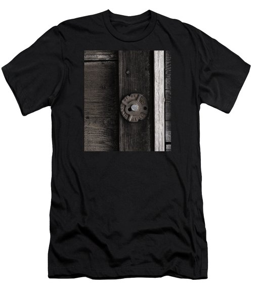 Weathered Wood And Metal Two Men's T-Shirt (Athletic Fit)