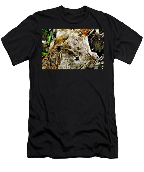 Weathered Wood Men's T-Shirt (Slim Fit) by Debbie Portwood
