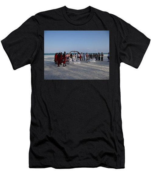 wedding with Maasai singers Men's T-Shirt (Athletic Fit)