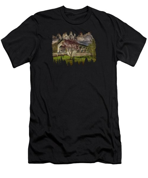 Weddle Covered Bridge Men's T-Shirt (Athletic Fit)