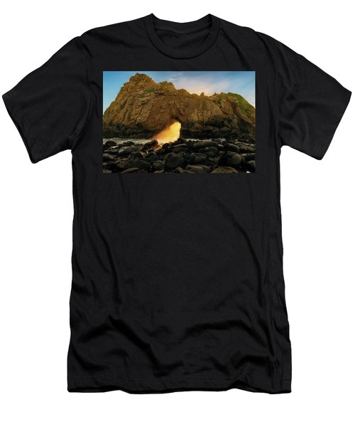 Men's T-Shirt (Athletic Fit) featuring the photograph Wedge Of Light by John Hight