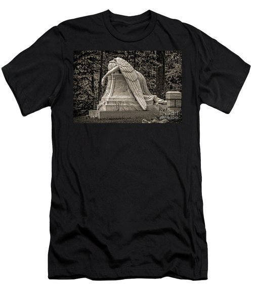 Weeping Angel - Sepia Men's T-Shirt (Athletic Fit)