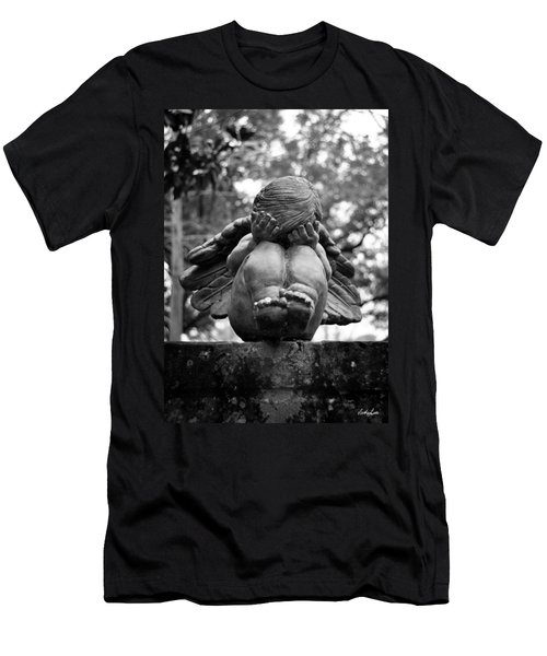 Weeping Child Angel Men's T-Shirt (Athletic Fit)