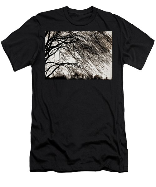 Weeping Willow Tree  Men's T-Shirt (Slim Fit) by Carol F Austin