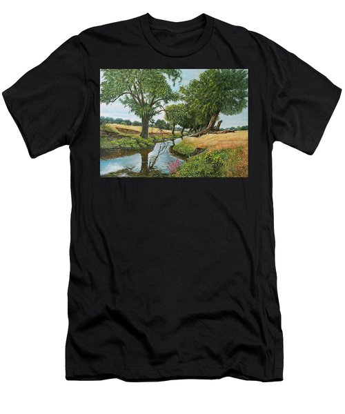 Weeping Willows At Beverley Brook Men's T-Shirt (Athletic Fit)
