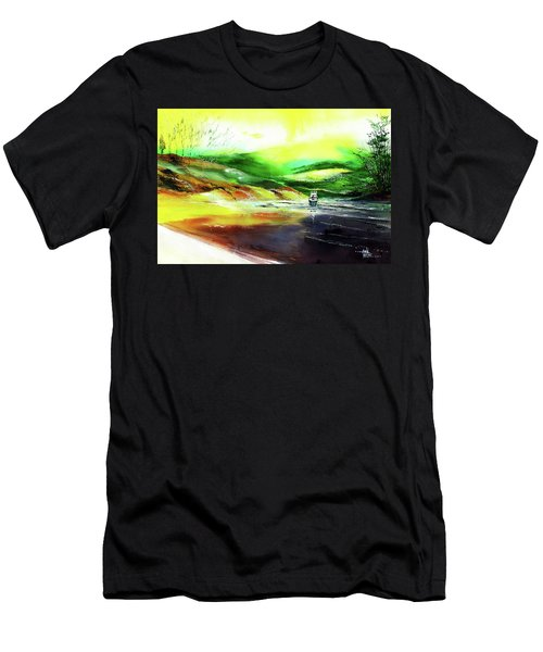 Men's T-Shirt (Slim Fit) featuring the painting Welcome Back by Anil Nene