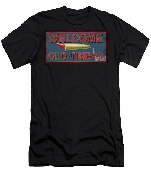 Welcome Fishing Sign Men's T-Shirt (Athletic Fit)