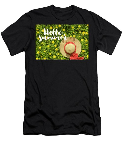 Men's T-Shirt (Slim Fit) featuring the photograph Welcome Summer by Teri Virbickis