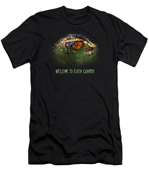 Welcome To Gator Country Design Men's T-Shirt (Athletic Fit)