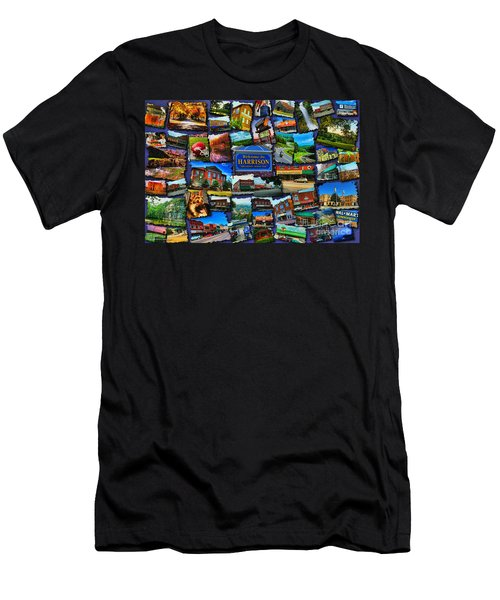 Men's T-Shirt (Athletic Fit) featuring the digital art Welcome To Harrison Arkansas by Kathy Tarochione