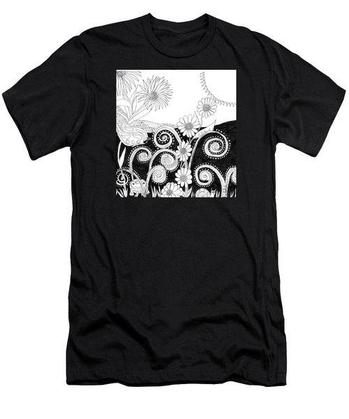 Men's T-Shirt (Slim Fit) featuring the painting Welcome To Our World by Lou Belcher