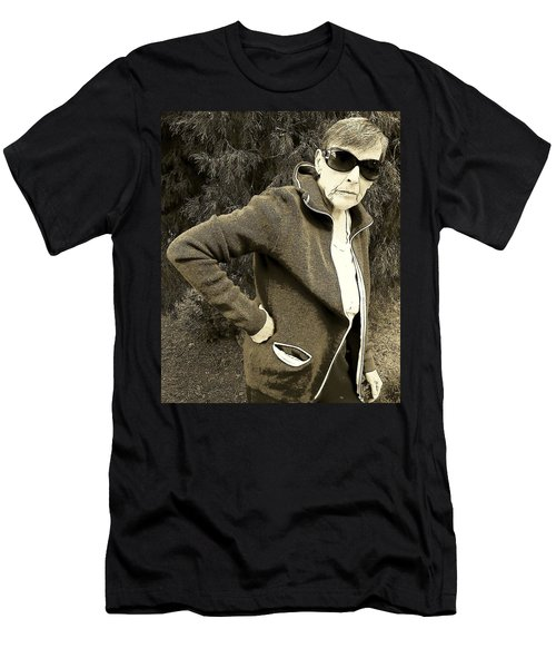 Men's T-Shirt (Slim Fit) featuring the photograph Well Are You Coming by Lenore Senior