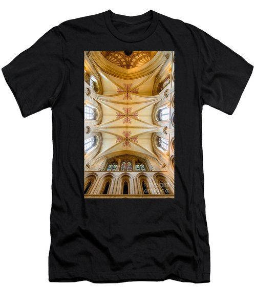 Wells Cathedral Ceiling Men's T-Shirt (Athletic Fit)